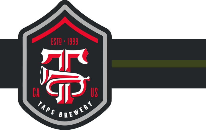 TAPS Brewery Badge with stripe